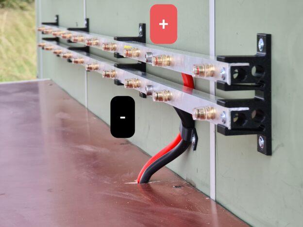 Utvändiga skenor för 24VDC